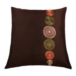 Rizzy Home - Brown and Green Decorative Accent Pillows (Set of 2) - T02773 - Set of 2 Pillows.