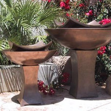 Contemporary Outdoor Fountains by GI Designs