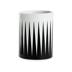 Ferm Living - Ferm Living Geometry Cup 1 - Drink up with this geometric-chic porcelain cup. Featuring clean lines and no handle, it has graphic triangle trim around the base that adds plenty of contemporary appeal.100% porcelain7cm W x 10cm H