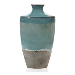 """Z Gallerie - Atlantis Vase - 28.3""""H - With its fine craftsmanship and deep rich coloration, Z Gallerie's exclusive Atlantis Vase is an essential decorative piece for your home. Crafted of earthenware, the vase is finished in a deep rich reactive glaze with the dramatic colors of a stormy sea. The glazing process gives each piece an individually unique look. Suggested for use with decorative flowers or foliage only."""