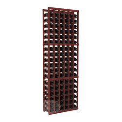 6 Column Standard Cellar Kit in Redwood with Cherry Stain - Six columns for bottle storage is a perfect solution for 9 cases of wine. The modular format ensures you can expand storage without worrying about new racks lining up properly. We construct every rack to our industry-leading standards. You'll love our racks. Guaranteed.