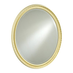 Afina - Timeless Tradition Oval Mirror - 21W x 27H in. - TT-110-GD - Shop for Bathroom Mirrors from Hayneedle.com! The Timeless Tradition Oval Mirror presents a traditional sense of style and beauty. Its oval shape is enhanced by a beveled edge mirror design and a classic frame in your choice of antique gold antique silver or antique white. Place this mirror in any hallway bedroom or living space to add a look of additional light and spaciousness.About AfinaAfina Corporation is a manufacturer and importer of fine bath cabinetry lighting fixtures and decorative wall mirrors. Afina products are available in an extensive palette of colors and decorative styles to reflect the trends of a new millennium. Based in Paterson N.J. Afina is committed to providing fine products that will be an integral part of your unique bath environment.