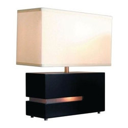 NOVA - Bedside Lamps: 19 in. Zen Reclining Table Lamp 0284DC - Shop for Lighting & Fans at The Home Depot. The NOVA 19 in. Zen Reclining Table Lamp comes with a 100-watt incandescent bulb, and features a 3-way rotary switch for a bight light that meets your ideal settings.
