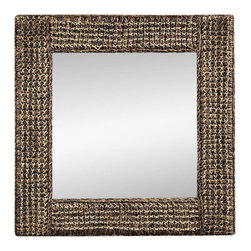 Bassett Mirror Company - Bassett Mirror Pan Pacific Rafi Square Wall Mirror in Natural Coir - Square Wall Mirror in Natural Coir belongs to Pan Pacific Collection by Bassett Mirror Company Bassett Mirror is fluent in this art, showing a terrific contemporary furniture that will satisfy on the one hand fans of home coziness, and on the other hand - seekers of non-standard design solutions also. One of the many strengths of the Bassett Mirror is using high quality materials for perfect embodiment of brilliant design ideas. Mirror (1)