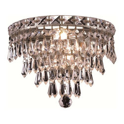 Elegant Lighting - Elegant Lighting 2526W12 Tranquil 3 Lights Wall Sconce - The Tranquil Collection is as serene as its namesake. Layers of cascading crystal form this series of chandeliers and flush mounts. Quietly and graceful this design to work in a wide range of decor.