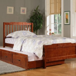 Albion Trundle Bed - Mahogany - Finished in rich, deep mahogany, the Albion Trundle Bed - Mahogany is a gorgeous centerpiece for your child's bedroom. With the optional trundle, you can add a second twin bed for siblings or sleepovers.About Homelegance, Inc.Homelegance takes pride in offering only the highest quality home furnishings that incorporate innovative design at the best value. From dining sets to mirrors, sofas, and accessories, Homelegance strives to provide customers with a wide breadth and depth of selection as well as the most complete and satisfying service available for their category. Homelegance distribution centers are conveniently located throughout the United States and Canada.