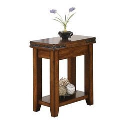 Winners Only - Mango Small End Table - Rectangular shape. Bottom shelf. 14 in. W x 23 in. D x 27 in. H