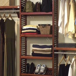 Home Decorators Collection - Closet System Adjustable Shelf Kit - Expand the function of your custom closet system by adding storage shelves. Designed for use with the Deluxe Adjustable Tower, these shelves provide additional organization space for a variety of clothes and accessories.  Utilize a combination of shelves, drawers or doors to create a custom closet system that exclusively meets your individual needs. Multiple configuration options make you the designer.These shelves feature quality-crafted solid wood construction and are ventilated for maximum air flow. Each shelf has pre-drilled pin holes. Shelf Kit includes two shelves with shelf pins. Your choice of durable, lacquered honey maple or mahogany finish.
