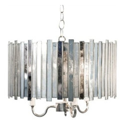 Faceted Mirrored Pendant with Cluster - Clayton Gray Home -