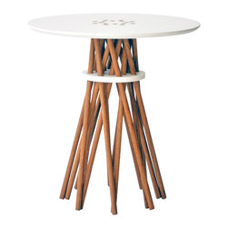 Ampersand - Bundle Side Table - With its elegant stance and friendly demeanor, Bundle is a testament to the processes inherit in handcrafted production. The interwoven elements are friction-fit to create a sturdy companion without the use of hardware or adhesives.
