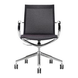 Kubikoff - Mercury Office Chair, Mesh Low Back - Mercury Office Chair