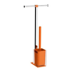 Gedy - Steel Floor Standing Bathroom Butler in Resin, Orange - Need a bathroom butlers? This one is a floor standing modern & contemporary bathroom butlers that will fit perfectly into your contemporary master bath.