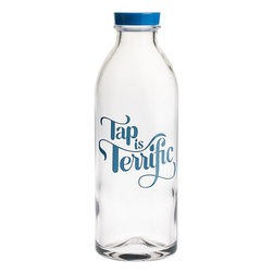 Tap Is Terrific Water Bottle - Show off your disdain for bottled water by being environmentally responsible and cute at the same time. This Tap is Terrific bottle is a great way to cut down on plastic waste with style.