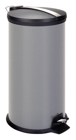 Honey Can DO - Step Trash Can - Gray, 30 Liter - Our Tone Colored Step Trash Can, Gray. A contemporary addition to any home or office, this 30Liters trash can boasts sturdy construction for daily use. The steel foot pedal provides hands-free operation to keep germs at bay. A removable inner bucket keeps bags from snagging and is easily cleanable. The deep recessed lid, hides trash bags from view. The gray, hand print resistant exterior is easy to clean and features a plastic fold down carrying handle.