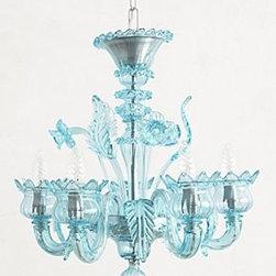 Anthropologie - Murano Glass Chandelier - *Hardwired for professional installation