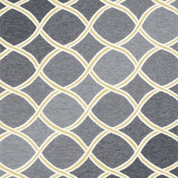 """Loloi Rugs - Loloi Rugs Venice Beach Collection - Charcoal/Lime, 7'-6"""" x 9'-6"""" - The Venice Beach Collection brightens up your home - inside or out - with a series of appealing, modern, hand-hooked designs from China. Made of 100-percent polypropylene, the rugs are UV and mildew-resistant."""