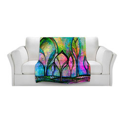 DiaNoche Designs - Fleece Throw Blanket by Robin Mead - After the Rain - Original Artwork printed to an ultra soft fleece Blanket for a unique look and feel of your living room couch or bedroom space.  DiaNoche Designs uses images from artists all over the world to create Illuminated art, Canvas Art, Sheets, Pillows, Duvets, Blankets and many other items that you can print to.  Every purchase supports an artist!