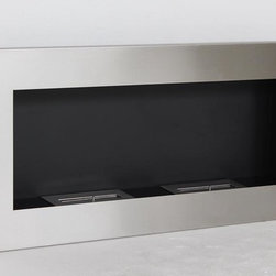 "Verra - Modern Recessed Ventless Ethanol Fireplaces - "" VERRA ""  Modern  Recessed Ventless Ethanol Fireplace"