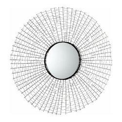 Iron Graphite Round Wall Decor Roxie Mirror #2 - *Roxie Mirror #2