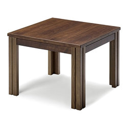 Skovby - Walnut Side Table - This tasteful walnut side table is a flawless fit for any space in your home. Grooved legs add a bit of groovy appeal, but its clean modern shape is clearly classic.