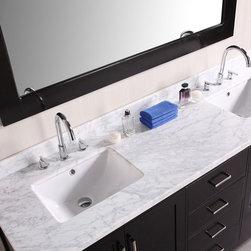 "72"" London Double Sink Vanity (DEC301B) -"