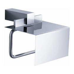 Fresca - Ellite Toilet Paper Holder in Triple Chrome Finish - Made with heavy duty brass. Triple chrome finish. 1-Year warranty on parts. 5.75 in. W x 7 in. D x 6.5 in. HAll of our Fresca bathroom accessories are made with brass with a triple chrome finish and have been chosen to compliment our other line of products including our vanities, faucets, shower panels and toilets. They are imported and selected for their modern, cutting edge designs.
