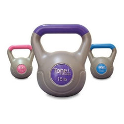 Tone Fitness Cement Filled Kettlebell Set - 30 lbs. - Kettlebells were originally designed for Russian Red Army soldiers and world-class athletes Sculpt and tone all the muscles you use for balance and leverage Steadily progress the intensity of your workouts by increasing weight amount Increase your agility build strength develop your balance and improve your endurance About CAP BarbellCAP Barbell is a leading distributor and provider of fitness equipment. Launched in 1982 with a small inventory of free weights and benches CAP Barbell has grown over the past 20+ years to include more than 600 products in 10 categories. Headquartered in Houston Texas CAP Barbell is dedicated to providing quality fitness equipment at competitive prices by constructively designing accurately testing and manufacturing its products to perfection.