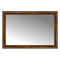 "Posters 2 Prints, LLC - 37"" x 25"" Belmont Light Brown Custom Framed Mirror - 37"" x 25"" Custom Framed Mirror made by Posters 2 Prints. Standard glass with unrivaled selection of crafted mirror frames.  Protected with category II safety backing to keep glass fragments together should the mirror be accidentally broken.  Safe arrival guaranteed.  Made in the United States of America"