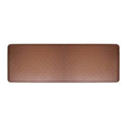 WellnessMats - Wellness Mats Floor Mat Motif Trellis 6'x2', Brown - As in all of our mats, the Motif Collection surface is incredibly supportive, resilient and feels like heaven on your feet. It is easy-to-clean, will never curl or delaminate and, of course, it provides unprecedented comfort and relief while you stand.