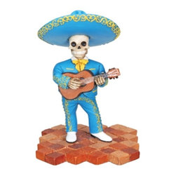 Summit - Mariachi Band Trio-Guitar Collectible Figurine Statue Sculpture Skull - This gorgeous Mariachi Band Trio-Guitar Collectible Figurine Statue Sculpture Skull has the finest details and highest quality you will find anywhere! Mariachi Band Trio-Guitar Collectible Figurine Statue Sculpture Skull is truly remarkable.