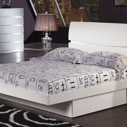 Global Furniture - Aurora Queen Bed in White Finish - Aurora Queen Bed in White Finish