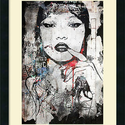 Amanti Art - Alex Cherry 'Princess of China' Framed Art Print 18 x 24-inch - Hang a proud princess on your wall with this eye-catching image by Alex Cherry.  Cherry is self taught and based in Los Angles. His works combine the influence of both music and pop culture.
