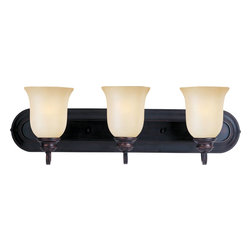 Maxim Lighting - Maxim Lighting Essentials Bathroom Lighting Fixture in Oil Rubbed Bronze - Shown in picture: When you need necessary lighting for your home - think Essential first. Essential collection's selection of traditional - transitional and contemporary lighting focuses on simple design to brighten up any room. Fixtures come in choice of Oil Rubbed Bronze