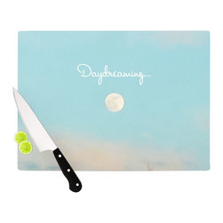 "Kess InHouse - Beth Engel ""Day Dreaming"" Sky Clouds Cutting Board (11"" x 7.5"") - These sturdy tempered glass cutting boards will make everything you chop look like a Dutch painting. Perfect the art of cooking with your KESS InHouse unique art cutting board. Go for patterns or painted, either way this non-skid, dishwasher safe cutting board is perfect for preparing any artistic dinner or serving. Cut, chop, serve or frame, all of these unique cutting boards are gorgeous."
