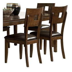Homelegance - Homelegance Baldwin Hills Side Chair in Mocha - This Baldwin Hill Side chair combines sleek lines with durable construction in a design that brings contemporary flair to your dining ensemble. Made with exotic mango and bamboo veneers, this chair features a parquet pattern with a cut-out center on a comfortable curved back. The rich brown mocha finish complements the dark-toned seat for an integrated and stylish look that proclaims your affinity for modern furniture.