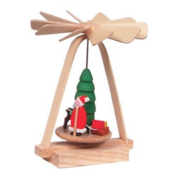 Glaesser - Glaesser Mini Santa Pyramid - 1709 - Shop for Holiday Ornaments and Decor from Hayneedle.com! This modest finely carved Christmastime Glaesser Mini Santa Pyramid is an exquisite example of the traditional German decoration. Santa stands next to a deer and tree on top of a spinning carousel. The diminutive makes it all the more charming. No candles required.About Alexander Taron Inc.For more than half a century the Taron Company has been delighting customers and collectors with traditional European gifts. These exquisite hand-crafted products range from nutcrackers and incense burners to ornaments and cuckoo clocks; unique and collectible they make unforgettable gifts regardless the occasion. Originally founded in 1949 Alexander Taron remains dedicated to providing high-quality items at great value.