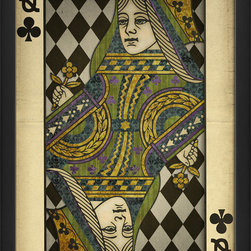 The Artwork Factory - 'Queen of Clubs' Print - Invite lady luck to smile on your favorite setting. This museum quality print on high resolution, acid-free paper makes an impressive yet playful style statement.