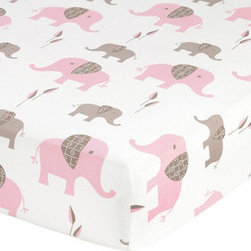 Sweet Jojo Designs - Pink Elephant Elephant Print Crib & Toddler Sheet by Sweet Jojo Designs - The Pink Elephant Elephant Print Crib & Toddler Sheet by Sweet Jojo Designs, along with the Pink Elephant bedding accessories.