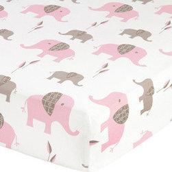 Sweet Jojo Designs - Pink Elephant Print Crib and Toddler Sheet by Sweet Jojo Designs - The Pink Elephant Print Crib and Toddler Sheet by Sweet Jojo Designs, along with the Pink Elephant bedding accessories.