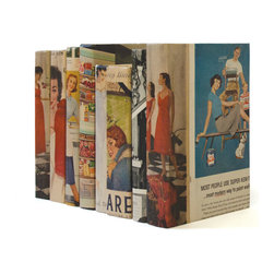 Go Home - Linear Foot of Recycled Vintage US Magazine Books - Linear Foot of Recycled Vintage US Magazine Books can display attractively on your table tops. These books are timeless colorful accent for decorating, a wedding, or a unique vintage gift. All the books in this foot comprises hardcover and classic design that opens up to reveal a state for your odds and ends. This beautifully textured and finished linear foot can provide a fresh look to your tables without pinching your pockets.
