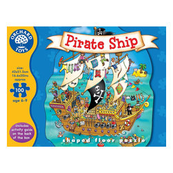 """The Original Toy Company - The Original Toy Company Kids Children Play Pirate Ship - Say the time out loud and try to make a match on your action-packed playing board. Children learn and develop skills with analogue and digital times. Play value may also be extended by usingthe kitchen clock or wall clock. Pieces: 100. Puzzle Size: 17""""x 21"""". Made in England. Ages 6-9 years."""