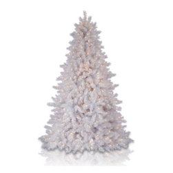 Balsam Hill Classic White Christmas Tree - BASK IN WINTER'S DELIGHT WITH BALSAM HILL'S CLASSIC WHITE CHRISTMAS TREE |