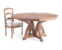 Link Furniture - Ruseau Octagonal Table - Ruseau is well acknowledged for their hand crafted interpretations of English, French and Italian antiques. The Ruseau Company, and its owner, Jamie Brown, are renowned for embracing traditional designs, where specialty finishes, hand-carved detailing, functionality, and modern proportions are the criteria for 21st Century living. Ruseau Collection for Link Outdoor