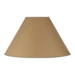 """Lamps Plus - Country - Cottage Kraft Paper Hardback Lamp Shade 6x17x11 (Spider) - Traditional empire paper shade in dark beige color. A lighter beige fabric border edging adorns the top and bottom. Polished brass spider fitter. Empire dark beige paper lamp shade. Lighter beige fabric top and bottom trim. Polished brass spider fitter. 9 3/4"""" high. 6"""" across the top. 17"""" across the bottom. 11"""" on the slant.  Empire dark beige paper lamp shade.  Lighter beige fabric top and bottom trim.  Polished brass spider fitter.  6"""" across the top.  17"""" across the bottom.  11"""" on the slant.  9 3/4"""" high."""