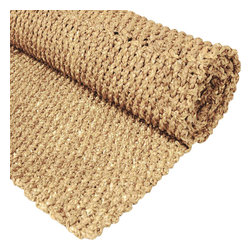 Oriental Furniture - 4' x 6' Woven Rush Grass Area Rug - Natural - Beautiful rustic design area rugs, hand crafted from all natural water hyacinth rush grass. A richly textured, durable, abundant, and sustainable material, that absorbs beautifully our selection of appealing, Earthy colors. A wonderful way to accent your living, dining, or bedroom with an element of nature's beauty.