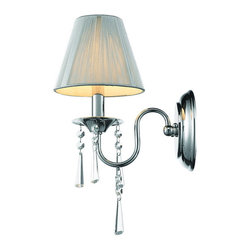 Golden Lighting - Golden Lighting 8201-1W SLV 1 Light Wall Sconce - Chic transitional to modern style