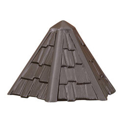 LANDSCAPE - LANDSCAPE Thatched Roof Deck Light X-TZA16451 - This Kichler Lighting deck light features casual styling that mimics the look of a shingled or thatched hut roof finished in a Textured Architectural Bronze hue, making it easy to blend into a number of home styles from rustic to English country garden.