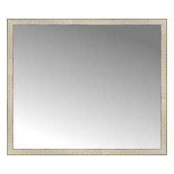 """Posters 2 Prints, LLC - 48"""" x 41"""" Libretto Antique Silver Custom Framed Mirror - 48"""" x 41"""" Custom Framed Mirror made by Posters 2 Prints. Standard glass with unrivaled selection of crafted mirror frames.  Protected with category II safety backing to keep glass fragments together should the mirror be accidentally broken.  Safe arrival guaranteed.  Made in the United States of America"""