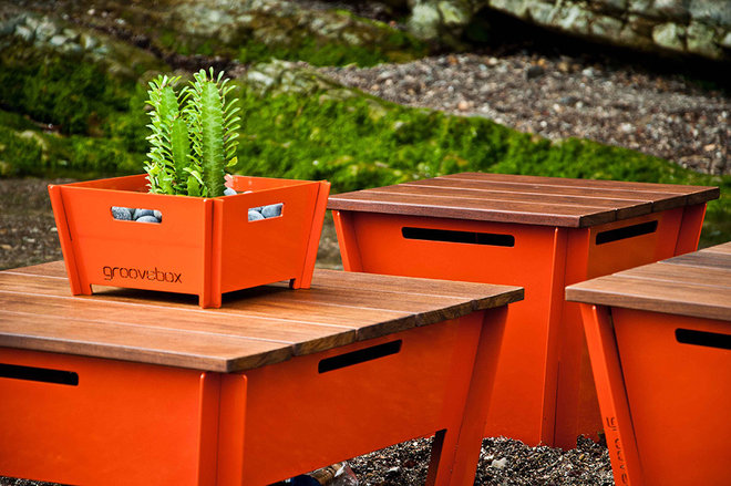 Modern Outdoor Stools And Benches Groovebox Low Stool