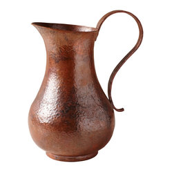 Los Olivos Copper Pitcher in Tempered Finish
